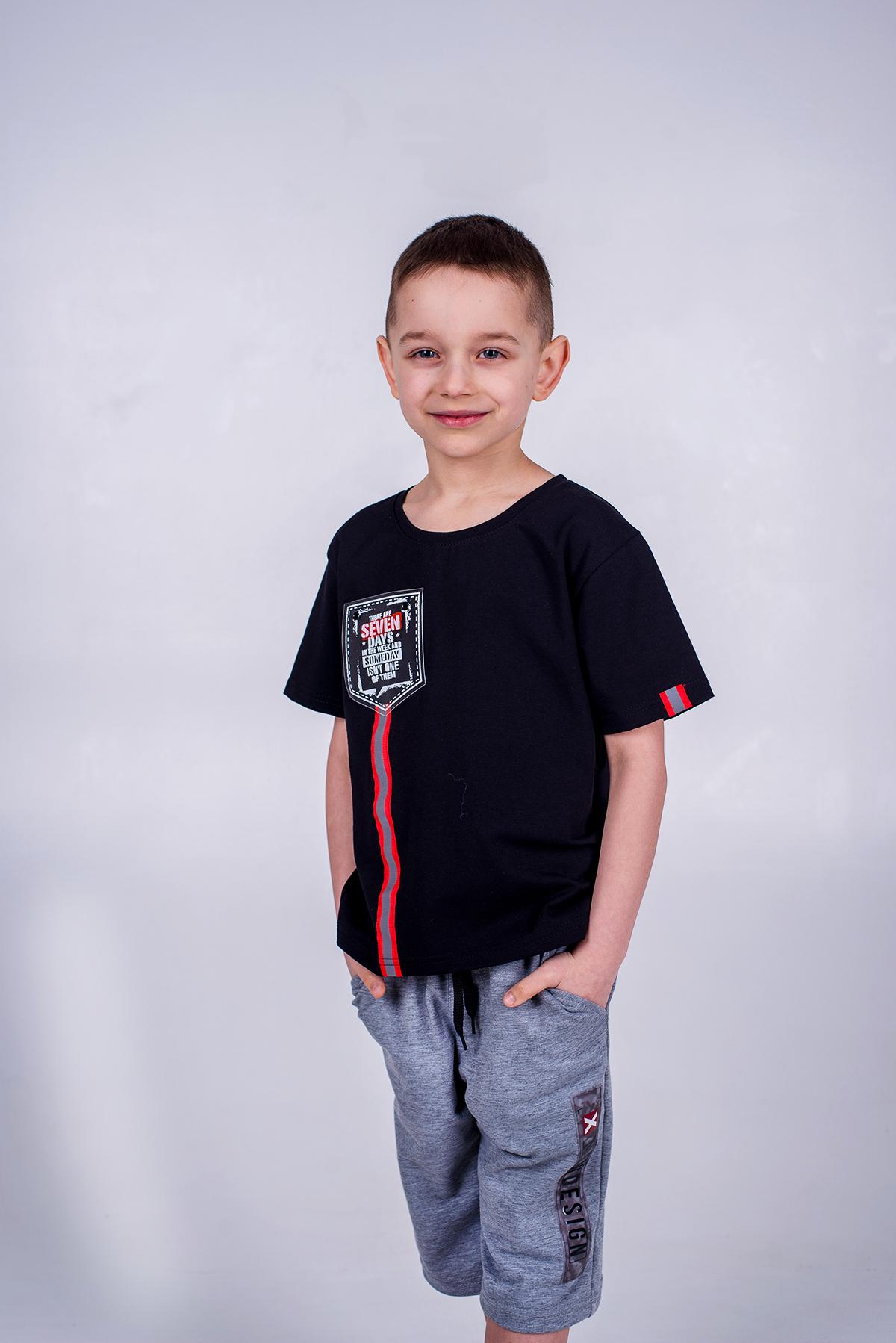 Футболка для хлопчика, Adventure, чорна, SmileTime