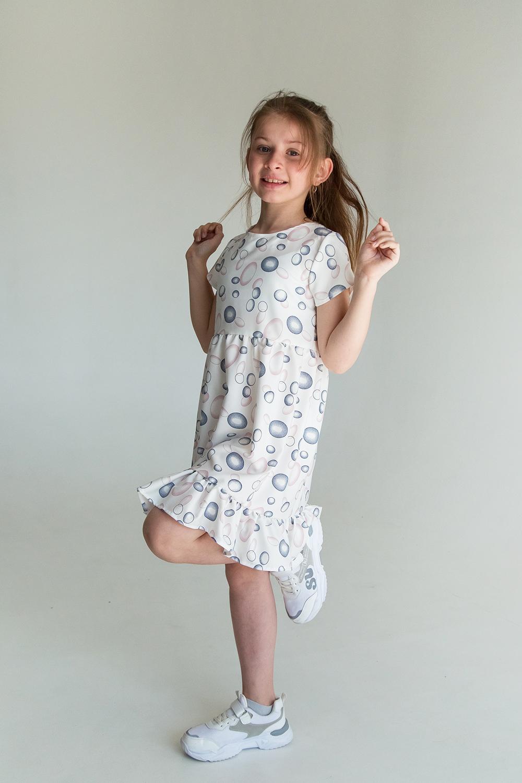 Платье для девочки белое, Bubbles SmileTime