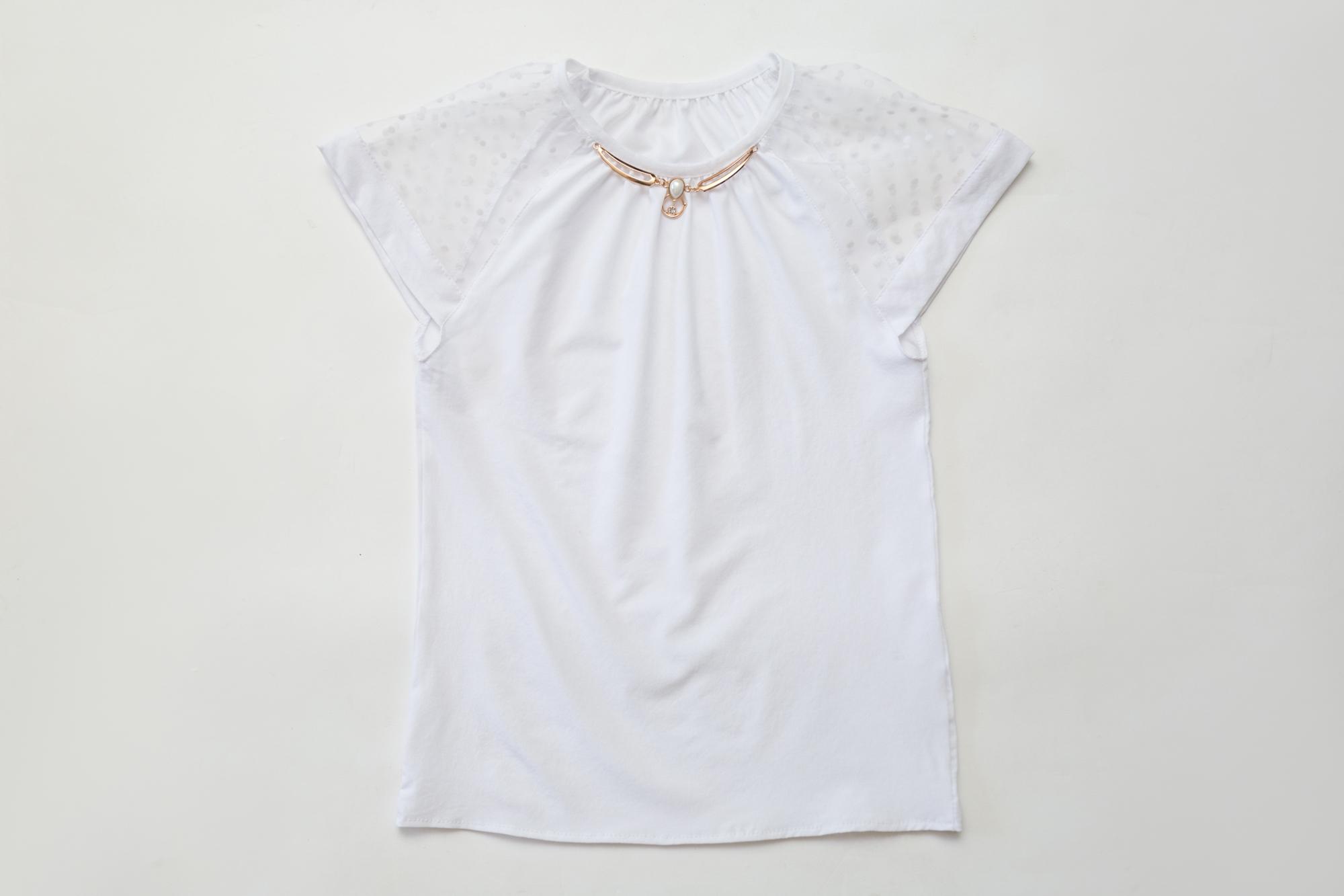 Блузка SmileTime для девочки Olivia, белая