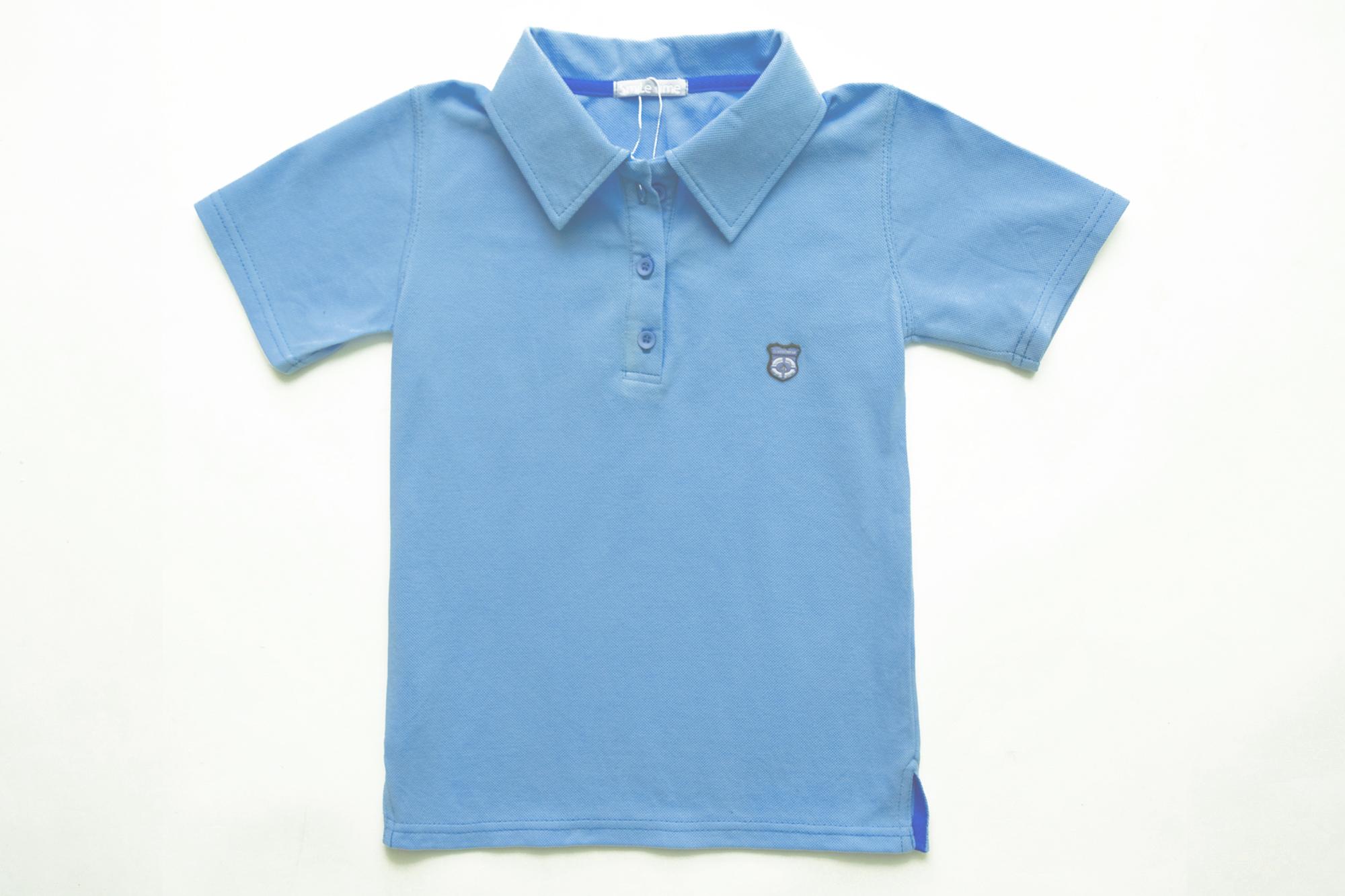Футболка-поло SmileTme детская для мальчика Polo, голубая