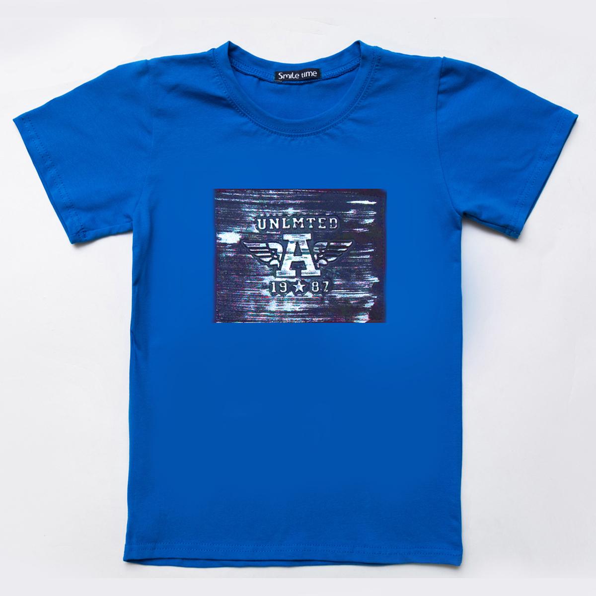 Футболка SmileTime детская для мальчика Unlimited, синий
