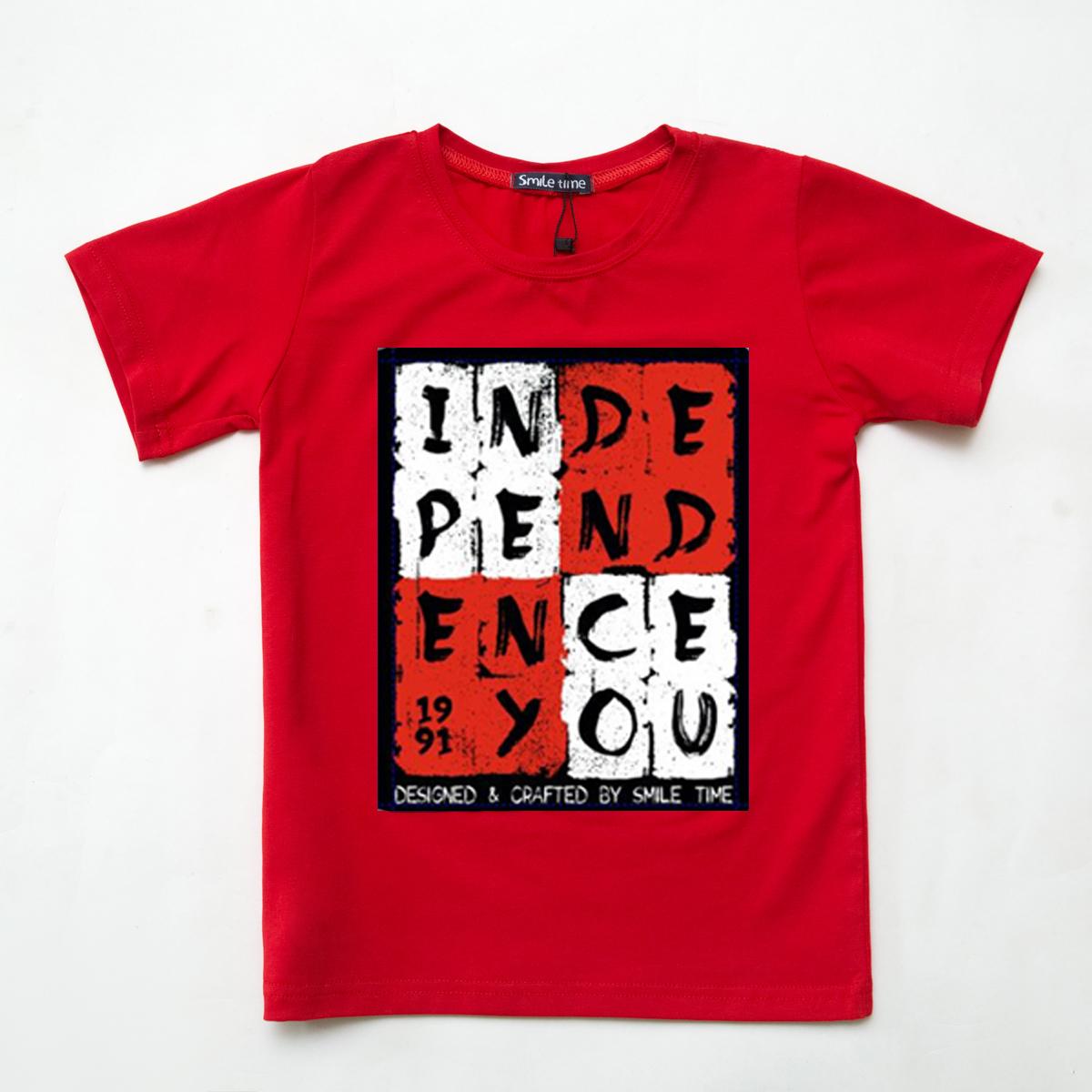 Футболка молодіжна, для хлопчика, Independents, червона, SmileTime