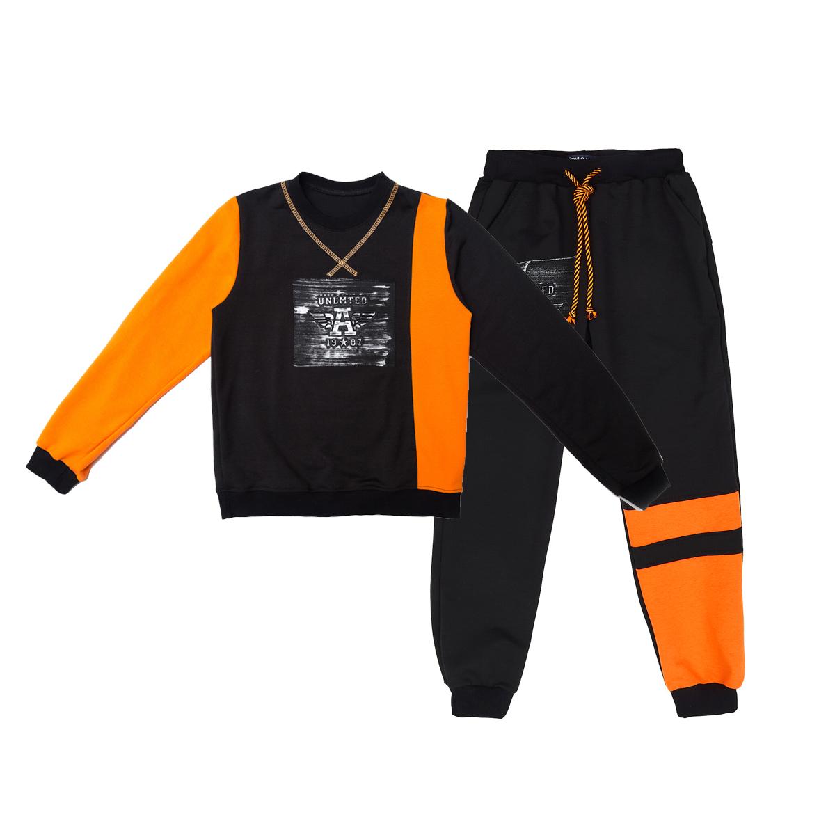 Комплект ST для мальчика Unlimeted, черный с оранжевым