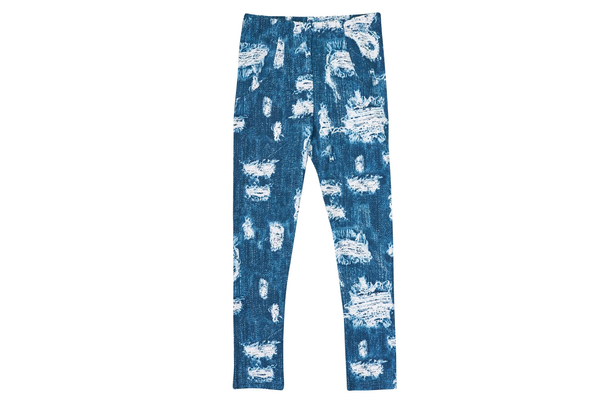 Лосины SmileTime для девочки Ragged, трикотажный джинс