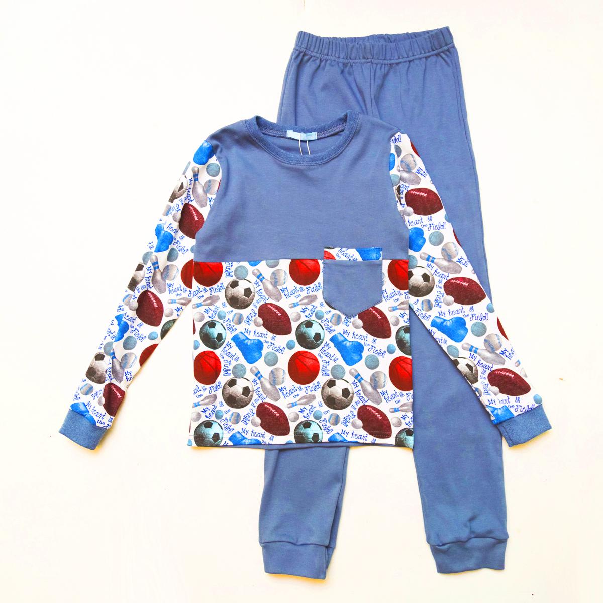 Пижама SmileTime для мальчика Sport Time, индиго