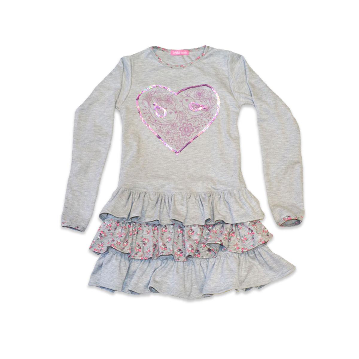 Сукня для дівчинки SmileTime Love Bird, сіра