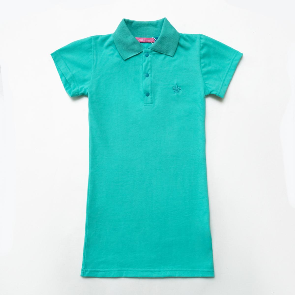 Платье-поло SmileTme для девочки Classic, мятный