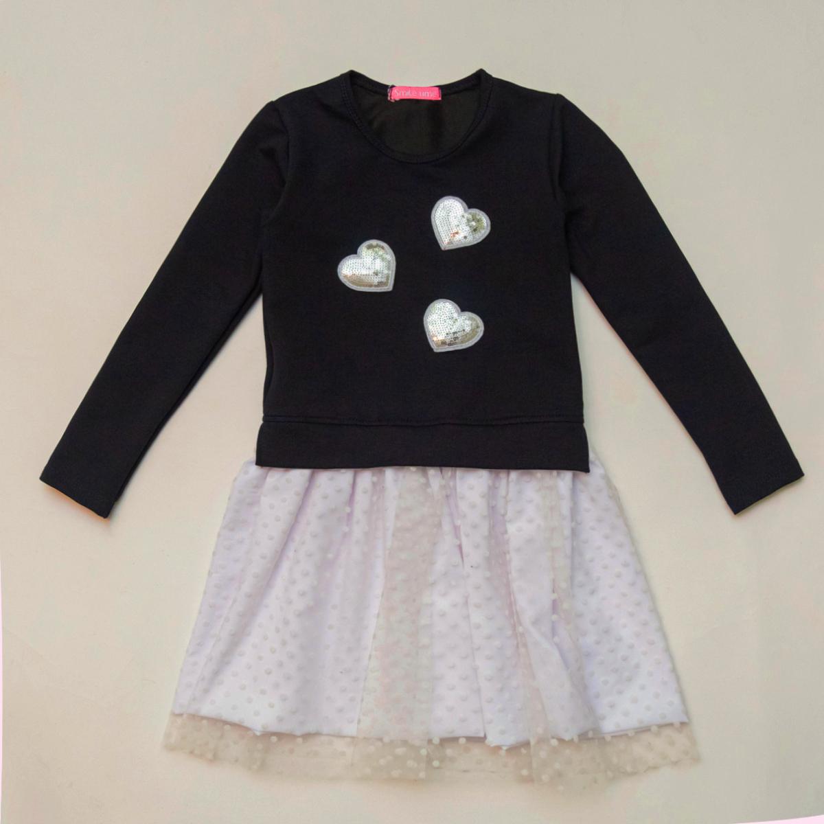 Платье детское SmileTime  нарядное Angel, синее с белым