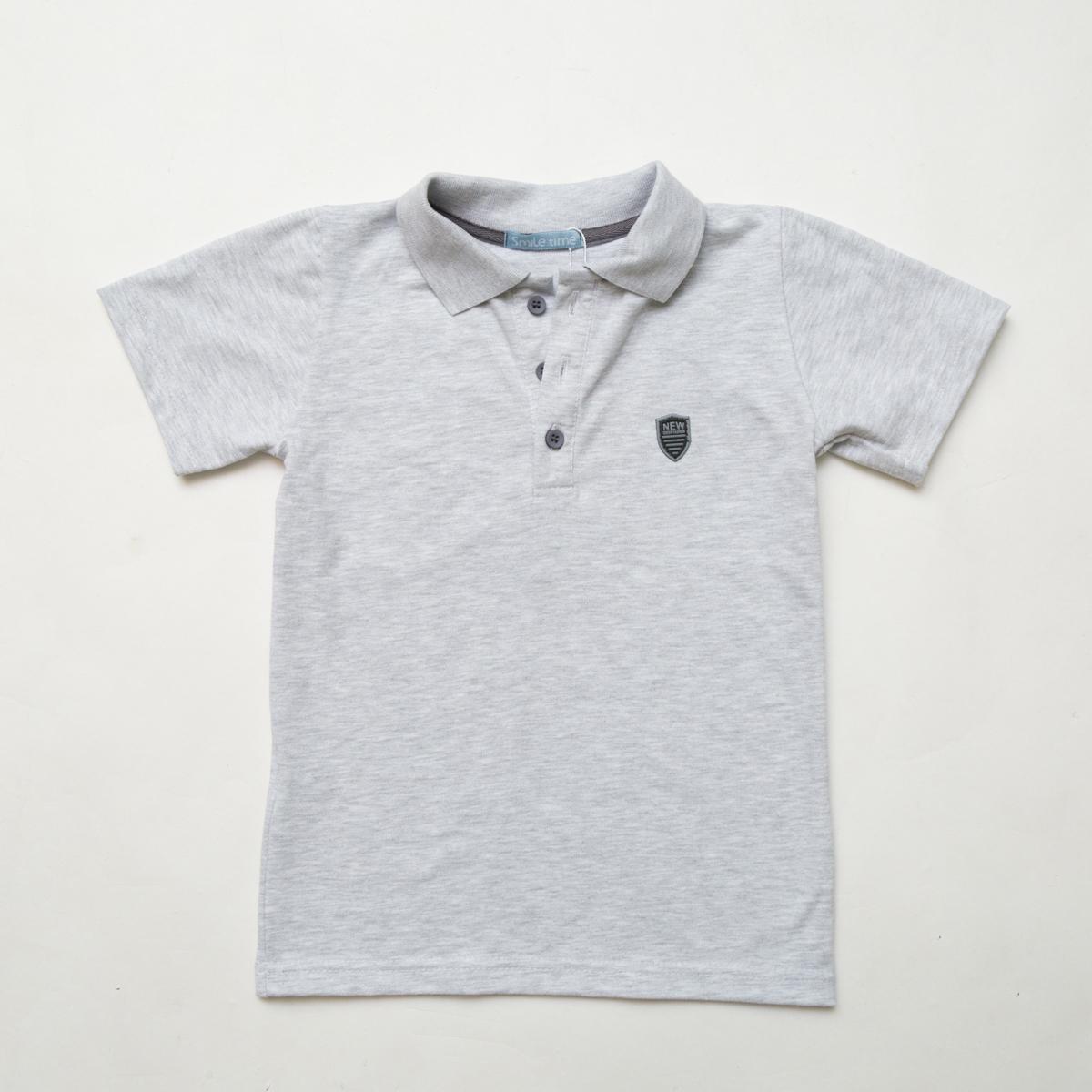 Тенниска SmileTme детская для мальчика Classic, светло-серый