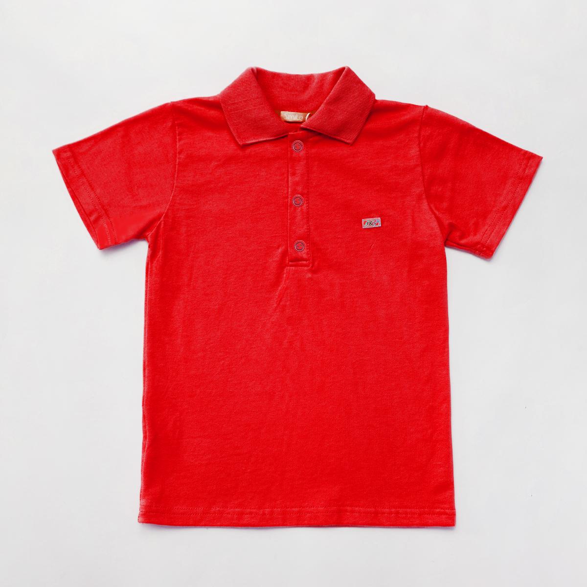Теніска поло з коротким рукавом для хлопчика SmileTme Classic, червона