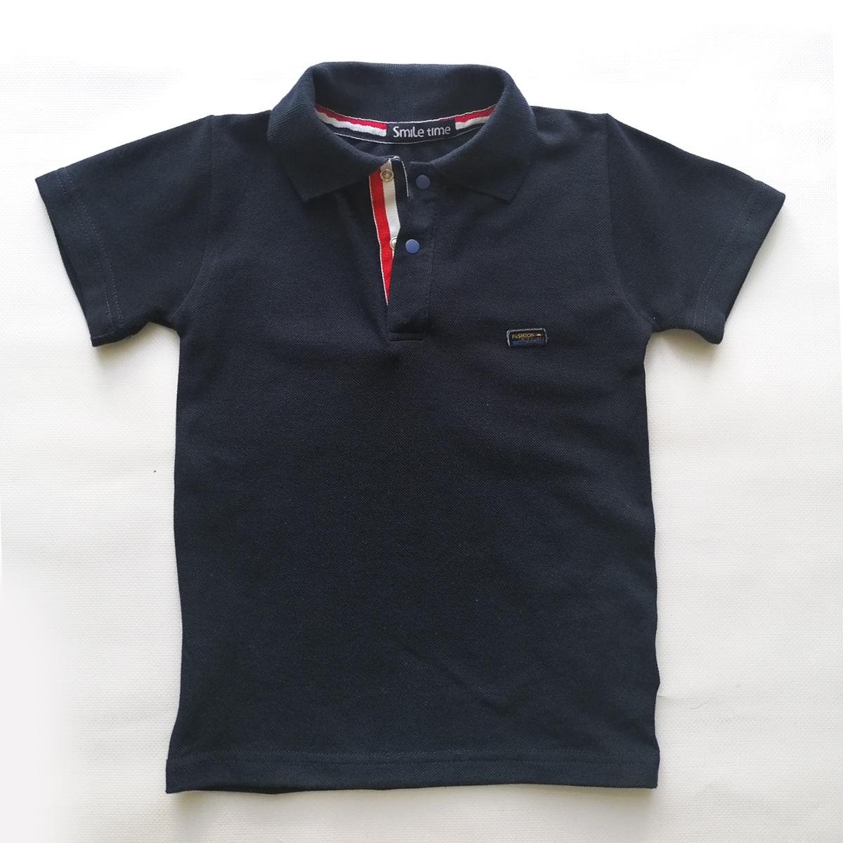 Тенниска поло с коротким рукавом для мальчика SmileTme Fashion, темно-синяя