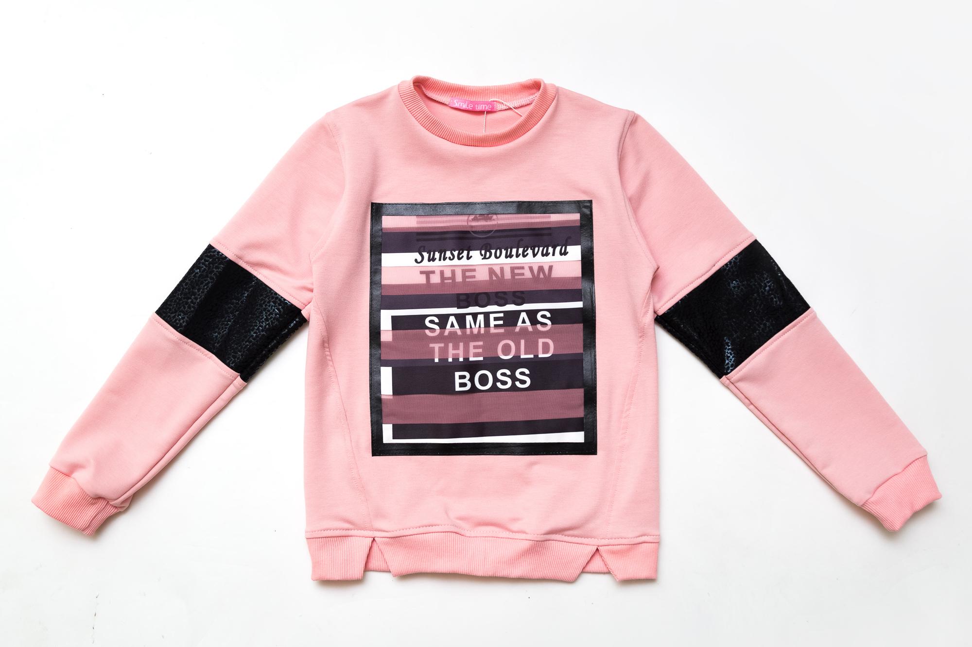 Свитшот SmileTime для девочки Sunset, светло-розовый