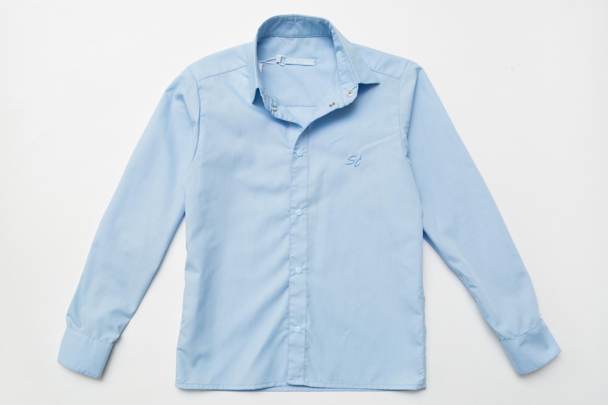Рубашка SmileTime для мальчика с длинным рукавом Classic, голубая