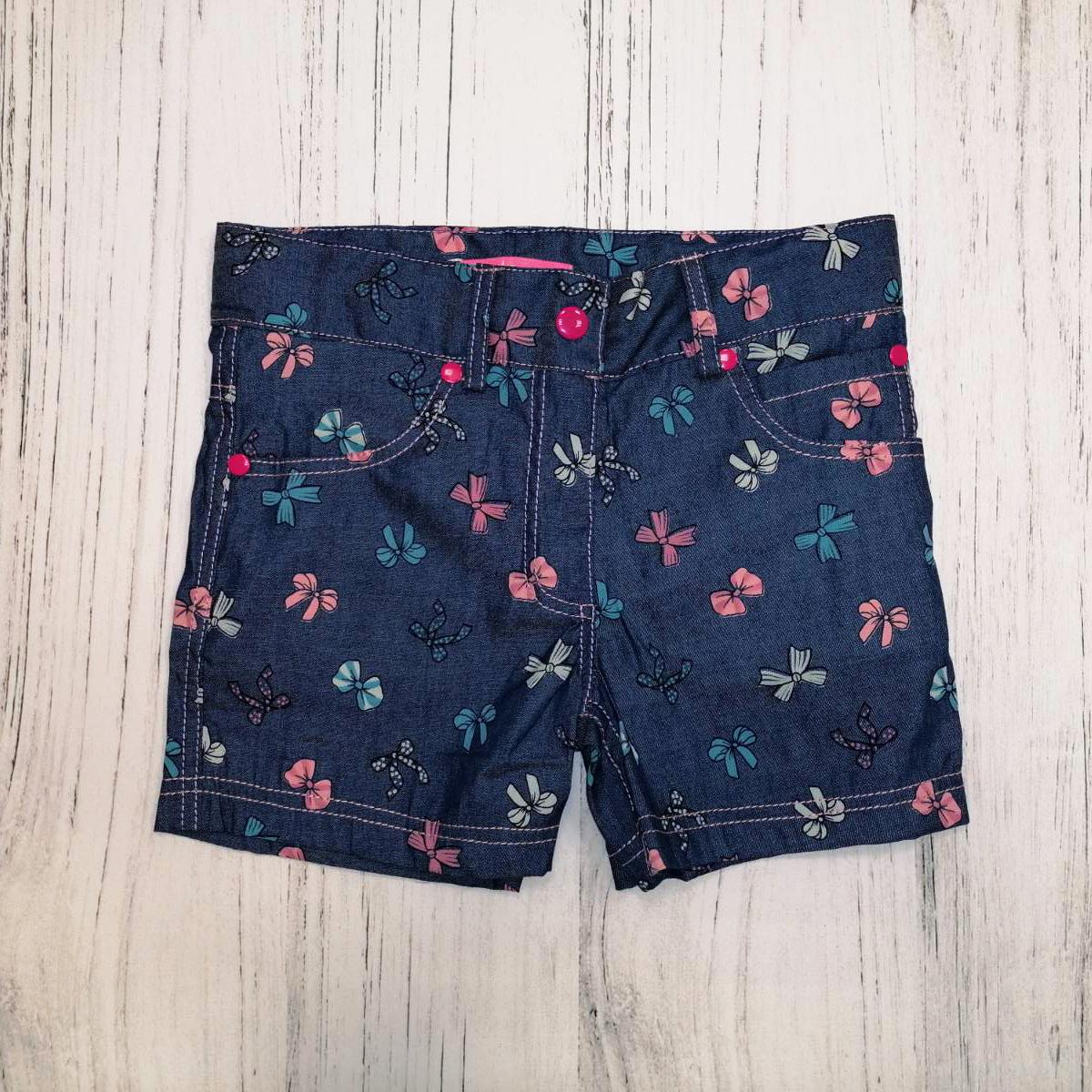 Шорти дитячі для дівчинки, Jeans Bow, джинс, SmileTime