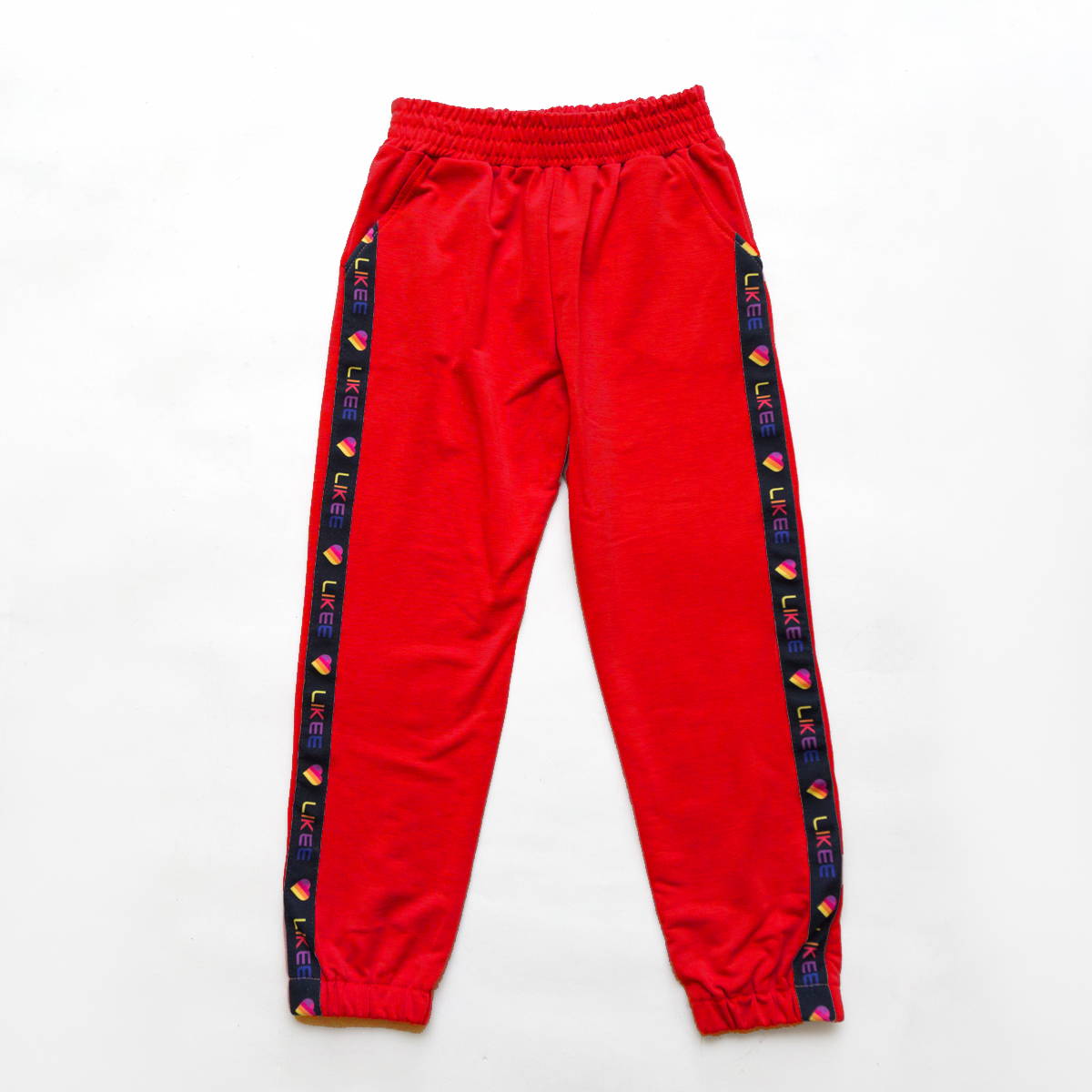 Штаны спортивные для девочки SmileTime укороченные Likee, красные