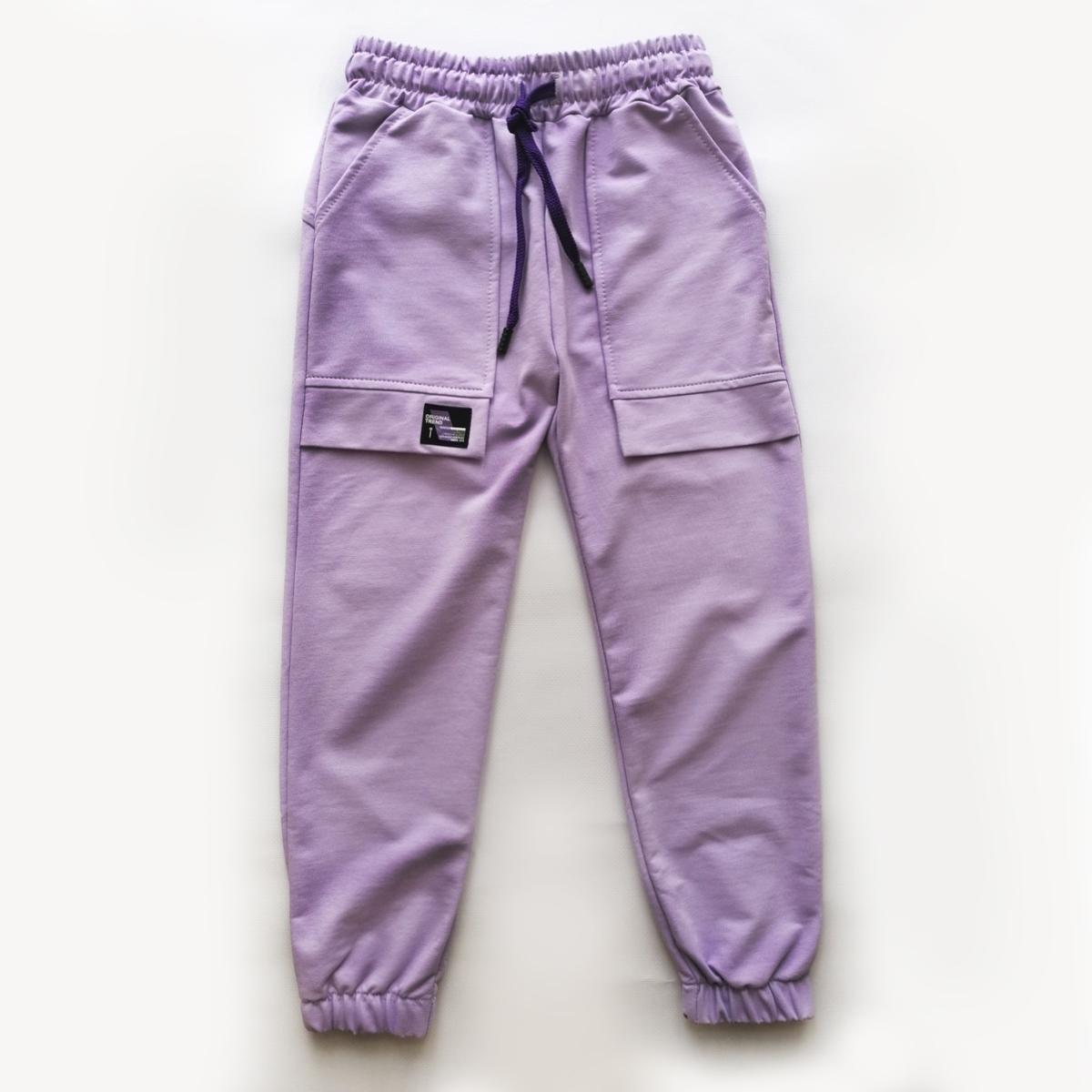 Штани для дівчинки підлітка, спортивні, лілові, Easy SmileTime