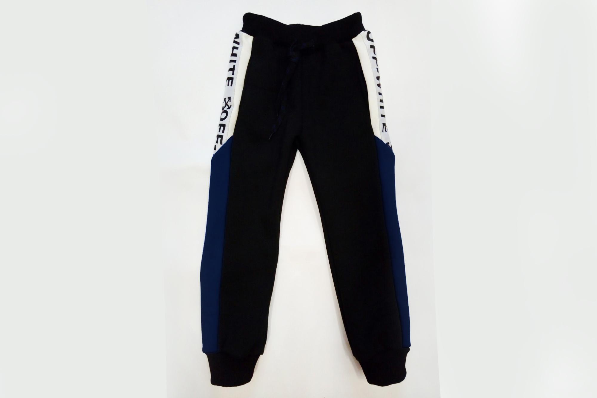 Штаны утепленные детские SmileTime Off W White, черные с синим