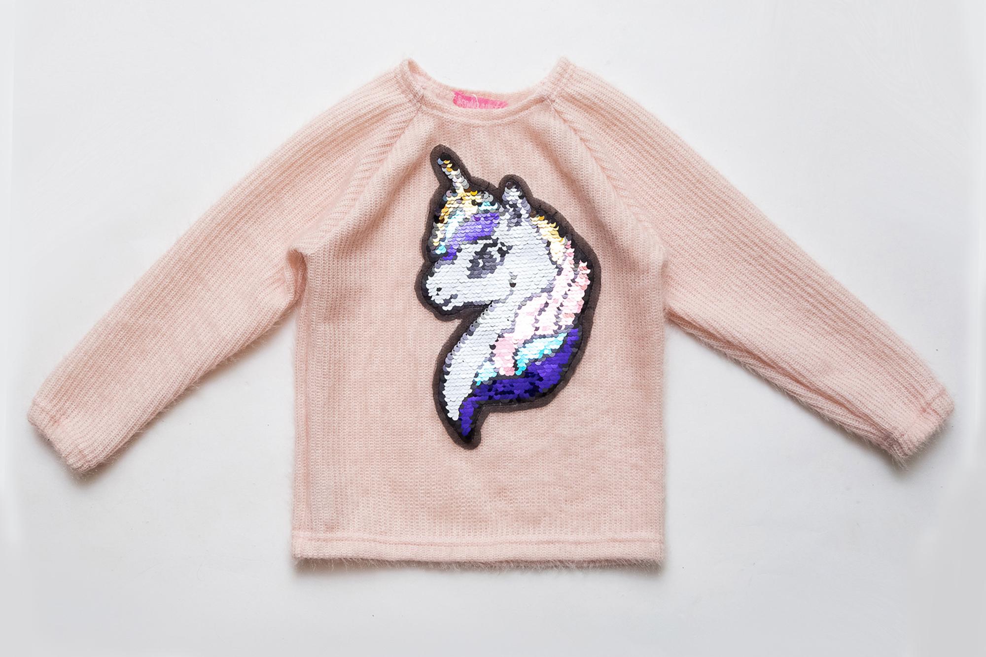 Свитер детский SmileTime  нарядный Pony, пудра