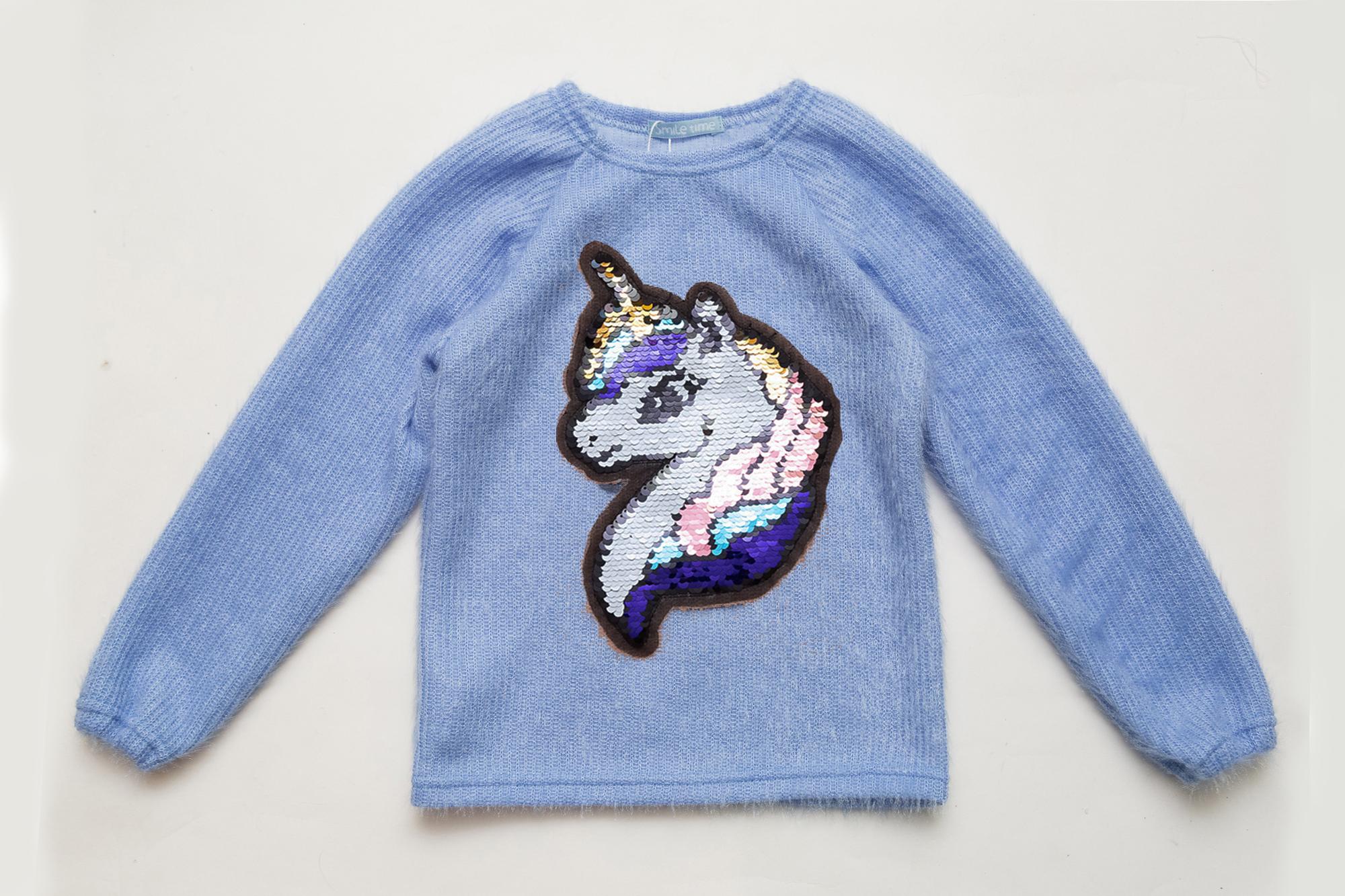 Свитер детский SmileTime  нарядный Pony, голубой