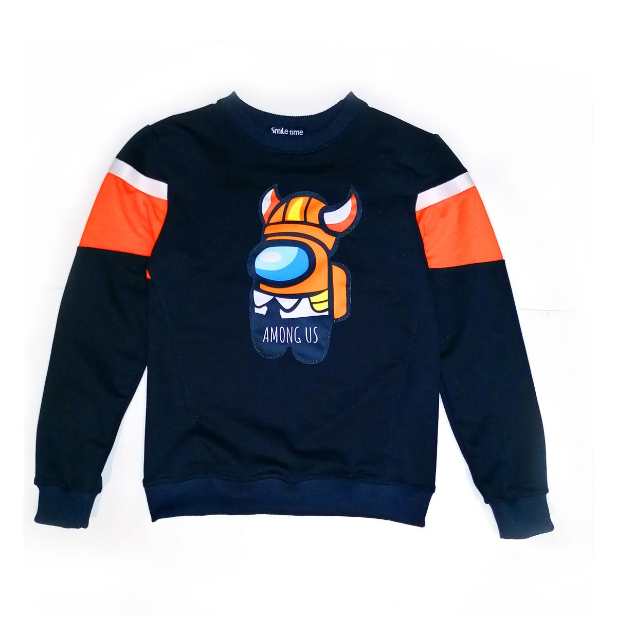 Свитшот SmileTime для мальчика Gamer, синий с оранжевым