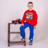 Свитшот SmileTime детский утепленный M&M, красный