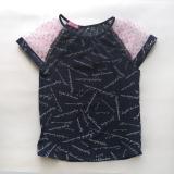 Блузка для девочки с коротким рукавом, синяя, Olivia, SmileTime