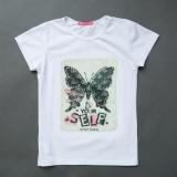 Футболка дитяча для дівчинки, Shining Butterfly, біла, SmileTime