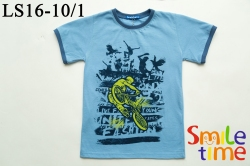 Футболка SmileTime для мальчика StreetBike, голубая