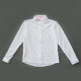 Рубашка SmileTime для девочки с длинным рукавом Soft, белая