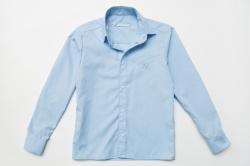 Рубашка SmileTime для мальчика с длинным рукавом на кнопках, голубая