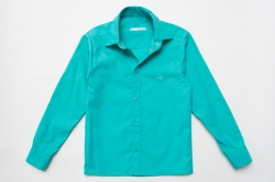 Рубашка SmileTime для мальчика с длинным рукавом на кнопках, мятная