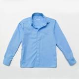 Рубашка для мальчика SmileTime с длинным рукавом Classic, синяя