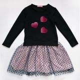 Платье детское SmileTime  нарядное Angel, синее с розовым