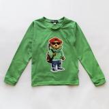 Футболка с длинным рукавом, лонгслив, для мальчика, зеленый, Autumn Bear SmileTime