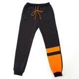 Штаны спортивные для мальчика подростка SmileTime DS, черные с оранжевым