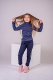 Водолазка для девочки SmileTime утепленная Melange, синяя