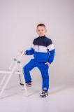 Кофта SmileTime детская утепленная Future, синий с электриком