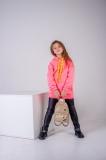 Худі SmileTime для дівчинки утеплене Juicy, рожевий неон