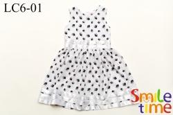 Платье SmileTime нарядное с лентами Bella, белое