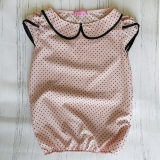 Блузка с коротким рукавом, для девочки, розовый в горошек, Julia, SmileTime