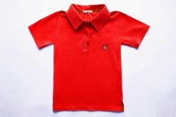 Футболка-поло SmileTme детская для мальчика Polo, красная