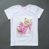 Футболка SmileTime детская для девочки Kitten, белый