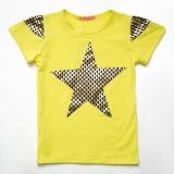 Футболка SmileTime для девочки Shining star, лимонный