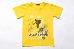 Футболка SmileTime детская для мальчика Skater, желтая
