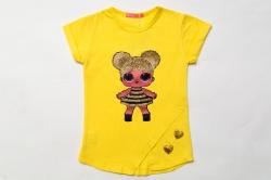 Футболка для дівчинки, Doll Queen Bee, жовта, SmileTime