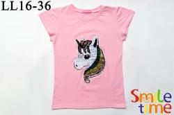 Футболка SmileTime для девочки детская Pony, светло-розовая