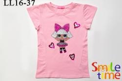 Футболка SmileTime для девочки детская Doll Diva, светло-розовая