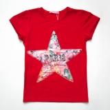 Футболка SmileTime детская для девочки Flower star, красный