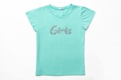 Футболка SmileTime для девочки Girls, мятная