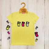 Футболка SmileTime для дівчинки Shining Among Us, лимонна
